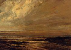 La plage de Trouville, par Gustave Courbet