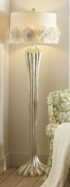 Our Hayworth Rosette Floor Lamp is like a shimmering, glowing flower