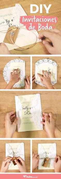 ¿Te gustaría cautivar a tus seres queridos desde el primer instante? Pues ¡manos a la obra! Aquí te decimos cómo hacer tus propias invitaciones de boda para que los sorprendas con un detalle muy personal y que, a su vez, será inolvidable. #wedding #diy #invitaciones #bodas