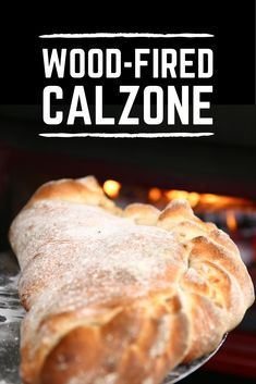 Wood-fired Calzone on the grill! #BBQ