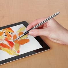 The iPad Paintbrush - Hammacher Schlemmer. This is the paintbrush that allows you to create works of art on a tablet computer or smartphone.