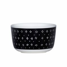 Marimekko Muija Black Dessert Bowl