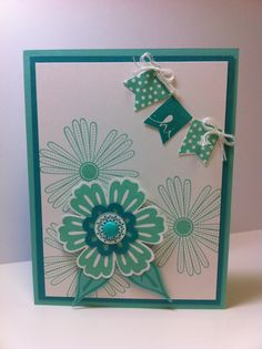 Stampin Up, Bermuda Bay, Coastal Cabana, Mixed Bunch, Banner Blast, Build a Blossom, Blossom Bouquet Triple Layer punch