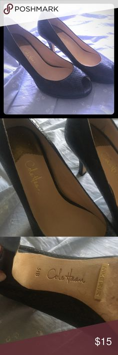 Cole Haan Pumps 5 1/2 pumps blackish/Grey and great for work.  I bought them on here but they ended up being too small Cole Haan Shoes Heels