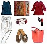 Hermes Carré Kantha, Hermes Carré en Carré, Mixing prints, how to mix scarves with prints, Capsule wardrobe spring and autumn
