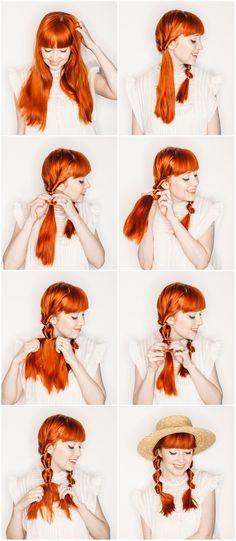 easy faux fishtail braids