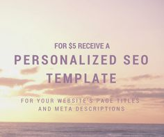 $5 Personalized SEO Template