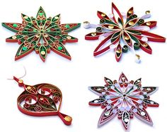 Quilled Christmas Ornaments by Victoria Brewer - interview with excellent images & link to her website etc (love these, so going to try something similar!!)