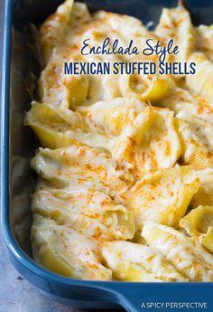 Easy Enchilada-Style Mexican Stuffed Shells