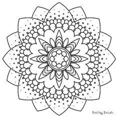 117 | Printable Intricate Mandala Coloring Pages, Instant Download, PDF, Mandala Doodling Page, Adult Coloring Pages, Kids Coloring Pages