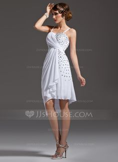 Cocktail Dresses - $132.29 - Sheath/Column Sweetheart Asymmetrical Chiffon Cocktail Dress With Ruffle Beading (016021186) http://jjshouse.com/Sheath-Column-Sweetheart-Asymmetrical-Chiffon-Cocktail-Dress-With-Ruffle-Beading-016021186-g21186