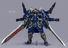 ぼくのかんがえたさいきょうのろぼっと Gundam Toys, Gundam Art, Battle Chasers, Halo Armor, Cool Robots, Dragons, Anime Weapons, Robot Concept Art, Samurai Art