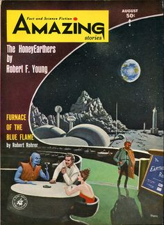 scificovers:  Amazing Stories August 1964. Contains Selection by Ursula K Le Guin. Cover by Richard McKenna.
