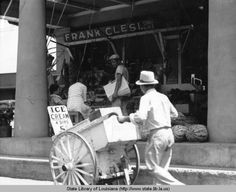 Street vendor with cart selling bisque in New Orleans Louisiana in the Louisiana History, New Orleans Louisiana, Great Pictures, Cool Photos, New Orleans History, Streetcar Named Desire, Research Images, Cultural Significance, Street Vendor