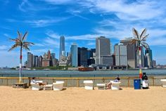 View from Water Taxi Beach on Governors Island