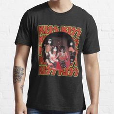KISS Band • Millions of unique designs by independent artists. Find your thing. Kiss Band, Shirt Outfit, Cool T Shirts, Shirt Designs, Artists, Unique, Classic, Mens Tops, Design Ideas