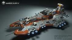 ArtStation - Ashes of the Singularity: Prometheus Cinematic Asset, Akil Dawkins Spaceship Art, Spaceship Design, Sci Fi Anime, Starship Concept, Sci Fi Spaceships, Space Engineers, Real Time Strategy, Space Fantasy, Sci Fi Armor