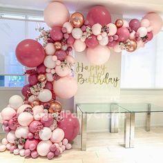 Rose Gold Balloons, White Balloons, Wedding Balloons, Latex Balloons, 5 Balloons, Party Ballons, Glitter Balloons, Balloon Arch Diy, Balloon Garland