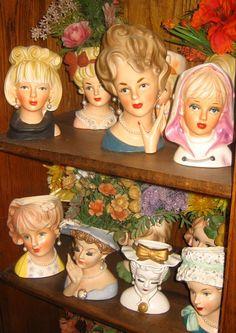 Head vases.