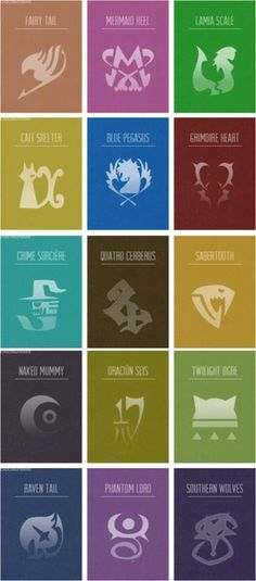 Fairy Tail Guild Symbols | Guild symbols in Fairy Tail | Logo &Symbol