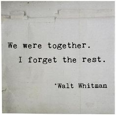 We Were Together I Forget The Rest Canvas Wall Art