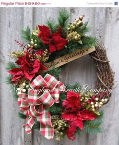 Christmas Wreath Holiday Wreath by NewEnglandWreath