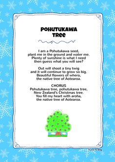 I choose this because its a native tree to new Zealand and it teaches children about our culture in nz. Christmas Songs For Toddlers, Toddler Christmas, Christmas Activities, Christmas Crafts For Kids, Kids Christmas, Merry Christmas, Kids Video Songs, Kids Videos, Preschool Songs