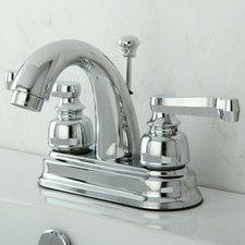 Vintage Double Handle Centerset Bathroom Faucet with ABS Pop-Up Drain