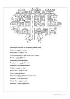 prepositions of place esl worksheets of the day pinterest prepositions worksheets and esl. Black Bedroom Furniture Sets. Home Design Ideas