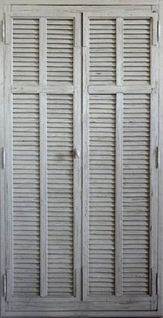 Louvre doors Paint patina finish. Decorative cupboard doors. Like the subtle graduation in colour
