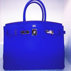 Royal Blue Hermes Kelly Bag - DREAM BAG !!!!