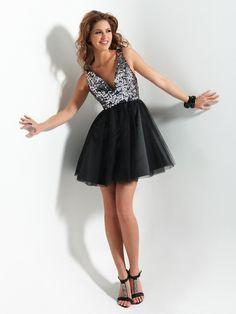 Flirt PF 5011 size 12 Black Graduation Dress at #SoSweetBoutique