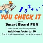 This is a little sample from a large Smart Board Math activity.It is a fun way to practice addition facts with a whole class or with a  small gro...