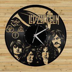 Wall Clock  Led Zeppelin Wall Clock Vinyl Record by VinylShopUS