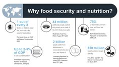 Infographic on importance of food security and nutrition