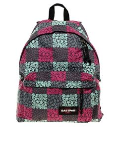 Eastpak Blossom Check Print Authentic Backpack.