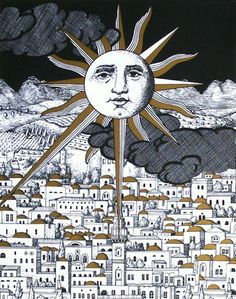 Piero Fornasetti Sun, Posters and Prints at Art.com