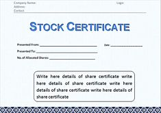 Blue color stock certificate template pdf stock certificate corporate stock certificate template word format stock certificate template free in word and pdf stock certificate template can easily be found there yelopaper Gallery