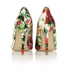 Dolcis Milan Ladies Court Green Floral Womens Footwear Shoes