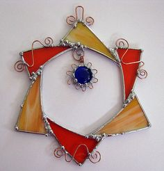 Abstract Decorative Stained Glass Suncatcher and by Groovyglass, $39.00