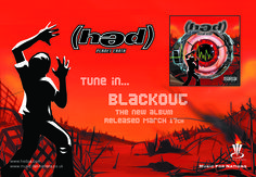 Hed PE - Tune in... Blackout half page Kerrang ad. Client: Music For Nations. Circa 2001. © Sean Mowle.