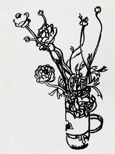 Flowers in a Salsa Jar by Megan Williamson on Artfully Walls
