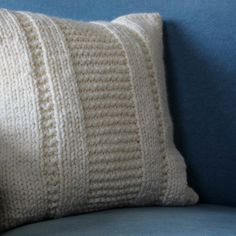 Knitting this out of 2 skeins of Burly Spun.  A quick and thoughtful gift that I can get under the Christmas tree  fast!  Ravelry: The Parkway Pillow pattern by Fifty Four Ten Studio
