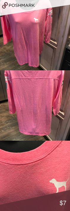 Pink long sleeve T size M I won't lie, this is well loved but in still slot of compliments left. Oh so soft PINK Tops Tees - Long Sleeve