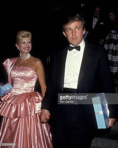 Ivana Trump and Donald Trump attend Tiffany's Fashion Gala on September 14 1987 at the Metropolitan Museum of Art in New York City