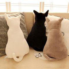 Soft Cat Back Stuffed Cushion Pillow