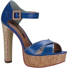 Sandália Cravo Azul com Salto Alto