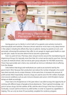 Personal essay for pharmacy school application