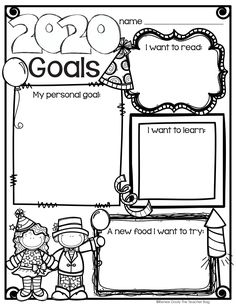 New Years activities: FREE New Year goals graphic organizer worksheet. New Years Activities, Writing Activities, Classroom Activities, Teaching Resources, Holiday Activities, Classroom Ideas, Holiday Classrooms, Teaching Ideas, Goal Setting Activities