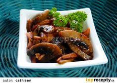 Žampionový salát se šunkou recept - TopRecepty.cz Chicken Wings, Beef, Food, Meat, Essen, Meals, Yemek, Eten, Steak